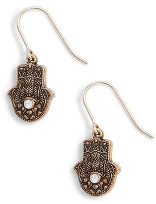 Alex and Ani Hand of Fatima Hook Earrings