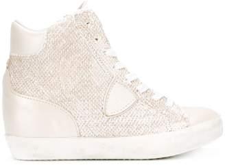 Philippe Model metallic hi-top sneakers