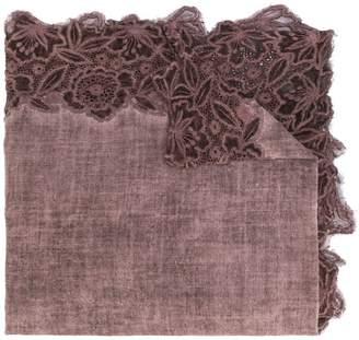 Faliero Sarti lace edge scarf