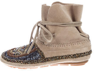 House of Harlow 1960 Maddie Beaded Booties $75 thestylecure.com