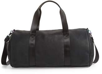 Violet Ray New York Front Pocket Faux Leather Duffel Bag