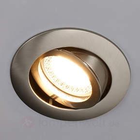 Einbauleuchte Lisara in Nickel mit LED, rund