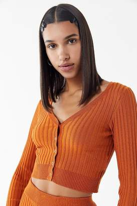 Urban Outfitters Rhyan Ribbed Cardigan Cropped Top