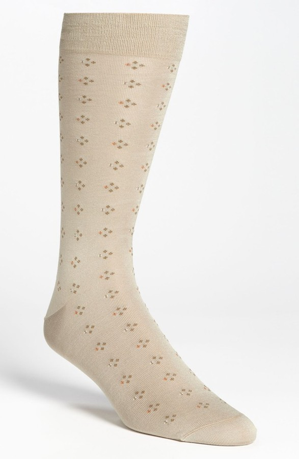 Brooks Brothers Double Neat Dotted Crew Socks