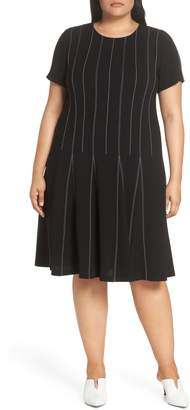 Lafayette 148 New York Malita Drop Waist Finesse Crepe Dress
