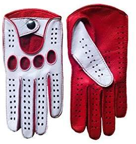 Men's Driving Gloves Color White by Hungant