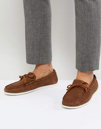 Walk London Henley Suede Tassel Loafers in Tan