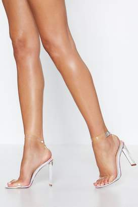 Nasty Gal Chances are Slim Clear Heel