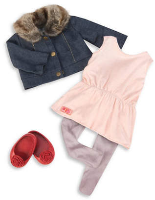 Our Generation Jean Jacket and Fur Collar Outfit Set