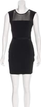 Elizabeth and James Sheer Accent Sleeveless Mini Dress