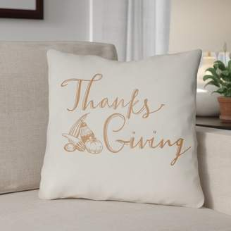 The Holiday Aisle Thanksgiving Indoor/Outdoor Throw Pillow