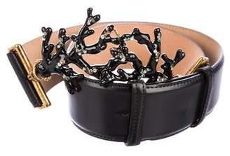 Blumarine Embellished Leather Belt