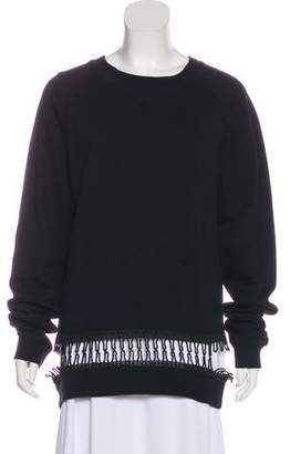 Christopher Kane Macramé-Trimmed Cutout Sweatshirt