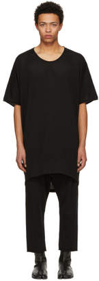 Nude:mm Black PVA Jacquard Jersey Big T-Shirt