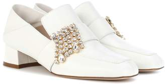 Stuart Weitzman Irises leather loafers