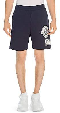 Alexander McQueen Men's Patch Cotton Shorts