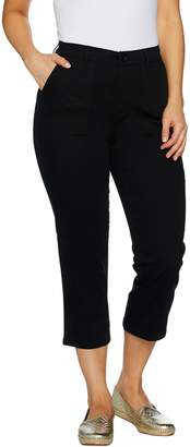 Denim & Co. Stretch Twill Crop Pant with Cargo Pocket