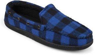 Territory Men's Plaid Faux Sherpa Lined Mocassin Slippers