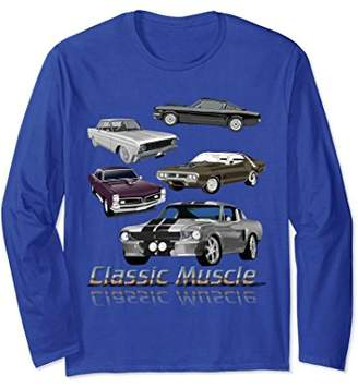 Classic American Muscle Cars Novelty Long Sleeve T-Shirt