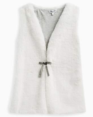 Splendid Little Girl Faux Fur Vest Tie
