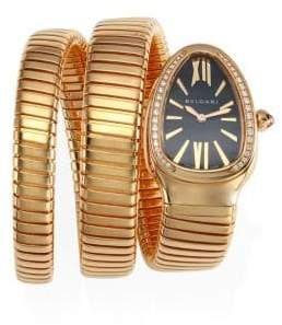 Bvlgari Serpenti Rose Gold& Diamond Double Twist Watch - Rose Gold