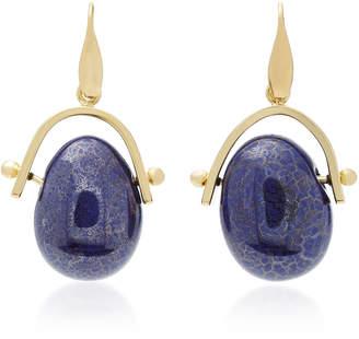 Isabel Marant Gold-Tone Brass Pebble Earrings