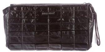 Miu MiuMiu Miu Ruched Patent Leather Clutch