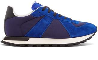 Maison Margiela Replica Runner low-top mesh and suede trainers