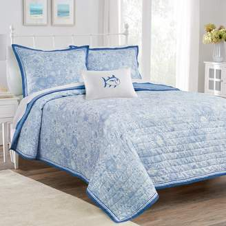 Southern Tide Seapine Floral Reversible Quilt