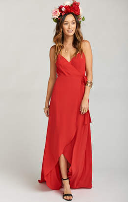 Show Me Your Mumu Mariah Wrap Dress ~ Lady In Red Crisp
