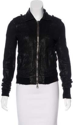 Giorgio Brato Laser Cut Leather Jacket