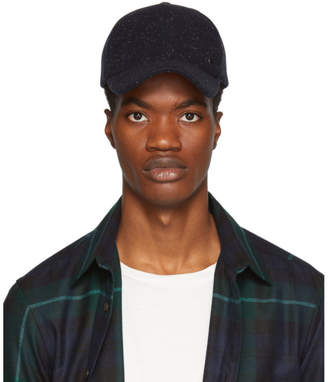 Paul Smith Navy Wool Speckled Cap