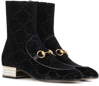 Gucci Velvet ankle boots