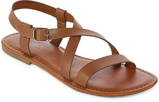 Antigua City Streets Womens Adjustable Strap Flat Sandals
