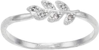 Lauren Conrad Cubic Zirconia Leaf Ring