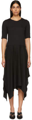 Raquel Allegra Black Handkerchief T-Shirt Dress