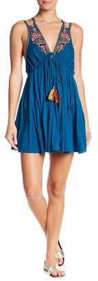 Free People Lover Cove Embroidered Mini Dress