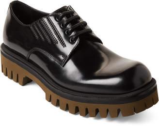 Dolce & Gabbana Black & Olive Leather Derby Shoes