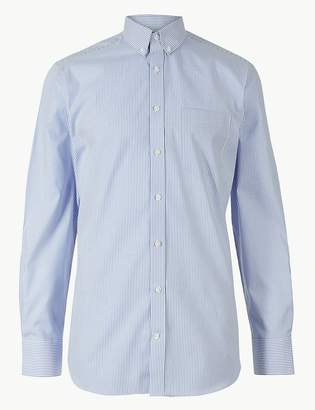 Marks and Spencer Pure Cotton Tailored Fit Oxford Shirt