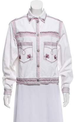 Etoile Isabel Marant Embroidered Denim Jacket w/ Tags