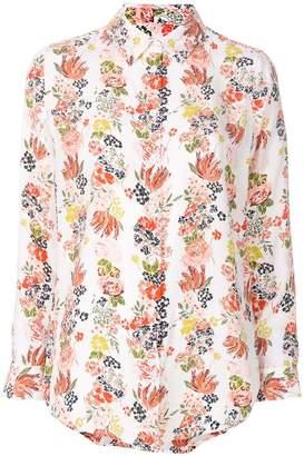 Equipment floral stripe shirt