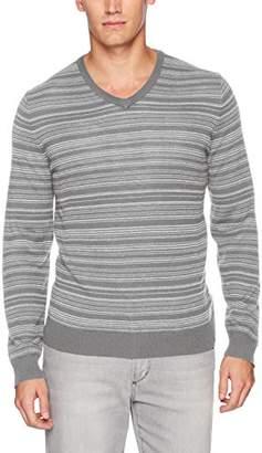 Calvin Klein Men's Merino Irregular Stripe V-Neck Sweater