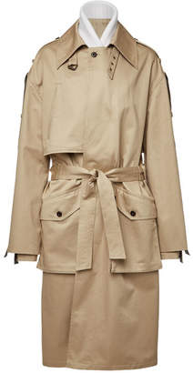 Faith Connexion Cotton Trench Coat with Virgin Wool