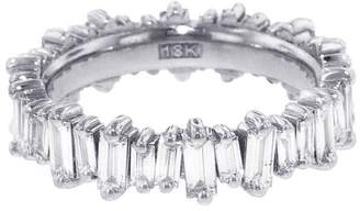 Suzanne Kalan Diamond Baguette New Classic Eternity Band Ring - White Gold