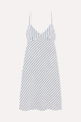 MICHAEL Michael Kors Striped Piqué Dress - Blue