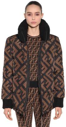 Fendi Oversized Reversible Nylon Down Jacket
