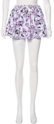 Au Jour Le Jour Mini Printed Skirt