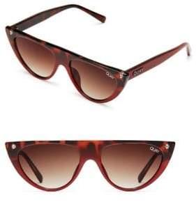 Quay Sophia Richie Run Away Narrow Cat Eye Sunglasses