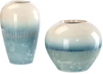 John-Richard Collection Asst. of 2 Classic-Shape Vases - Cream