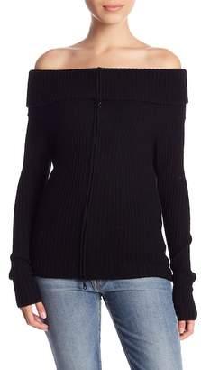 Minnie Rose Cashmere Blend Off-the-Shoulder Sweater